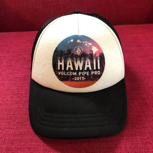 Volcom Pipe Pro 2017 Snapback Hat Trucker Hawaii